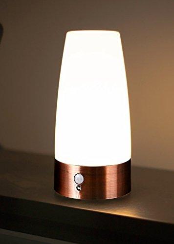 Aappy rétro petite nuit de style européen sans fil PIR capteur de mouvement à piles LED lampe de table decrative lampes d'éclairage pour lavabo chevet, chambre à coucher, salle de bains, couloir 3 AAA