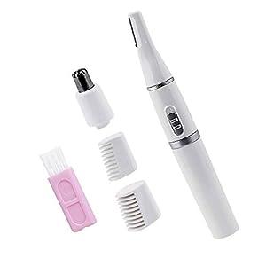 CODIRATO 2 in 1 Mini Augenbrauentrimmer Multifunktion Augenbrauenrasierer Elektro Nasenhaartrimmer, Wasserdichter Trimmer für Körper und Gesichthaare(Weiß)