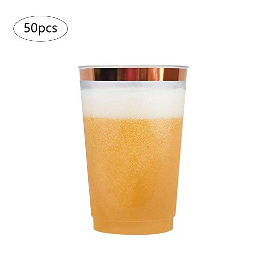 windyday Kunststoff-Bechermehrweg bruchsicher transparent klar stapelbar Party-Becher Plastik-Becher Mehrweg-Becher Wasser-Gläser Trink-Gläser 50 Stück (Becher Klar Party)