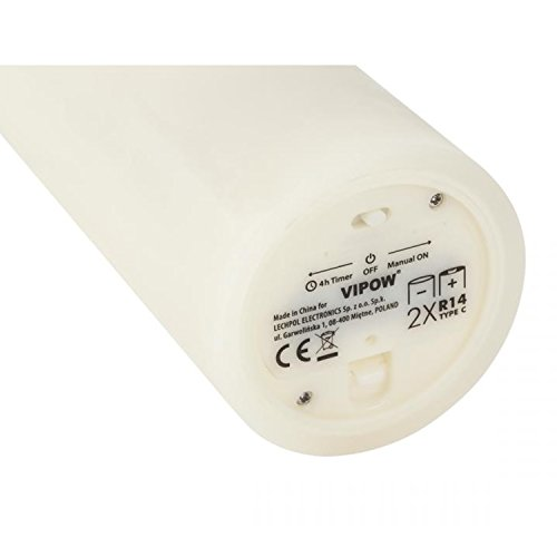 Vipow led0200–2Ivory vela de cera LED Gros
