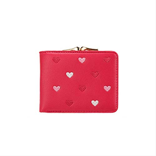 OWPC wallet Pacchetto Multifunzionale Mini Wallet Candy Color A Forma Di Cuore Donne Short Wallet Cute Coin Purse Pacchetto Carta