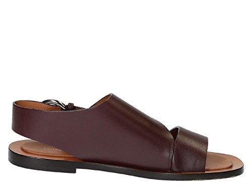 cline-womens-318093cbbc28bd-burgundy-leather-sandals