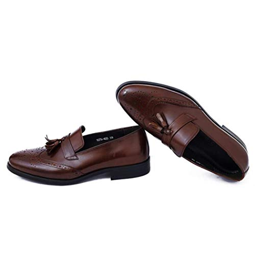Zxcer Smoking Schuhe Lackleder Hochzeit Schuhe für Männer Cap Toe Lace up Formale Business Oxford Schuhe (Farbe : Rot, Größe : 40 EU) Cap Toe Lace Up Cap