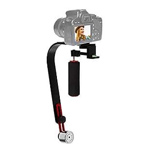 TGgear Video Steadycam Stabilizzatore per fotocamera digitale compatta iPhone dslr per Canon Nikon Sony Gopro hero Pentax Camcorder DV