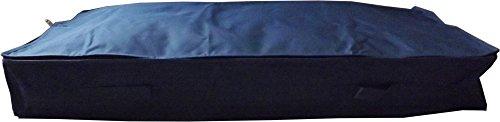 Neusu Strapazierfähige Unterbettkommode Im Schlanken Design - 70 Liter Fassungsvermögen (Mittlere Größe 105 cm x 45 cm x 15 cm) - Belastbares 600D-Polyestermaterial Mit 4 Tragegriffen – Zusammenfaltbar - Blau