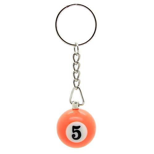 tumundo 1 Schlüsselanhänger Schlüsselring Schlüsselband Billiard Billardkugeln Bunte Zahlen Anhänger Anhänger, Modell:Modell 5