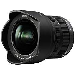 Panasonic Lumix Objectif Zoom Grand Angle pour capteur micro 4/3 7-14mm F4.0 H-F007014E (Ultra Grand Angle 7mm, Ouverture constante F4.0, equiv. 35mm : 14-28mm) Noir - Version Française