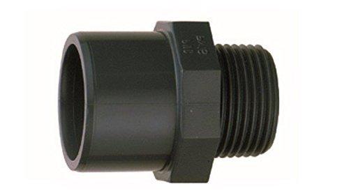 'Endstück Unisex Durchmesser 32oder 40mm Gewinde 11/4A Anschrauben PN 16–Verbindungsstück PVC–jardiboutique