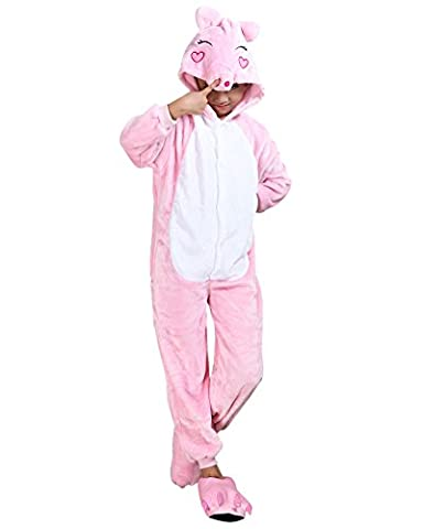 Molly Pyjama Pour Enfants Cartoon Cosplay Costumes Onesie Animaux Noël Siamois Pink Pig 85