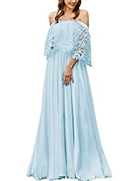 JAEDEN Vestido de Boda Vestidos de Novia Mujere Bohemio Vestido de Fiesta Gasa Encaje