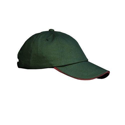 Result - Casquette uni profil bas 100% coton - Adulte unisexe (Taille unique) (Vert/Rouge)