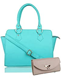 WOMEN MARKS SLING WITH HAND HELD BAG SEA GREEN (D KOR) COMBO