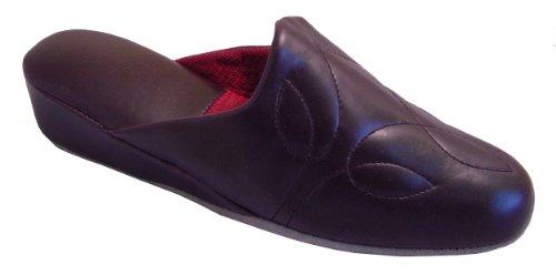 Leichte Damen Pantoffeln mit weicher Sohle und Keilabsatz,Gr.36-41,bordeaux Bordeaux