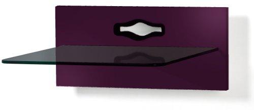 VCM Paneel Hifi Halterung Receiver DVD-Player Möbel Konsole Wandregal Pflaume