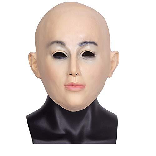 Zhaoyue Masken Latex Kopf Menschliches Gesicht Maske Halloween Cosplay Party Kostüm Prop, Foto