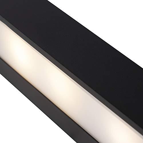 QAZQA Diseño Aplique diseño alargado negro 35cm