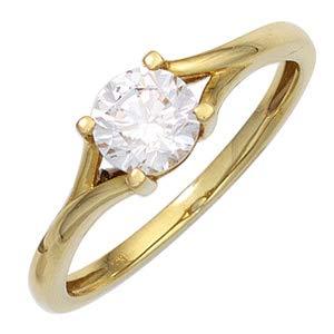 JOBO Damen Ring 333 Gold Gelbgold 1 Zirkonia Goldring Größe 56 [Schmuck]