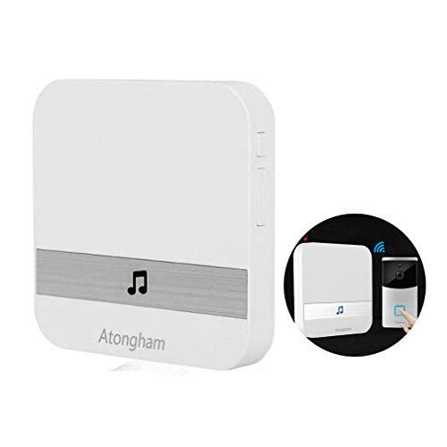 Timbre inalámbrico WiFi cámara de vídeo Intercom HD 720P visión nocturna función de dos vías sistema de seguridad para el hogar integrado tarjeta de 32 GB 2 x 18650 y timbre interior