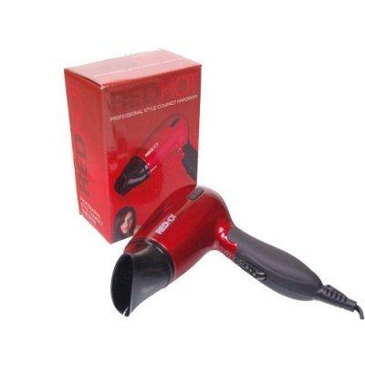 ReD HoT - Sèche-cheveux compact pliant rouge style professionnel 1200W avec 2 réglages de chaleur BML37070