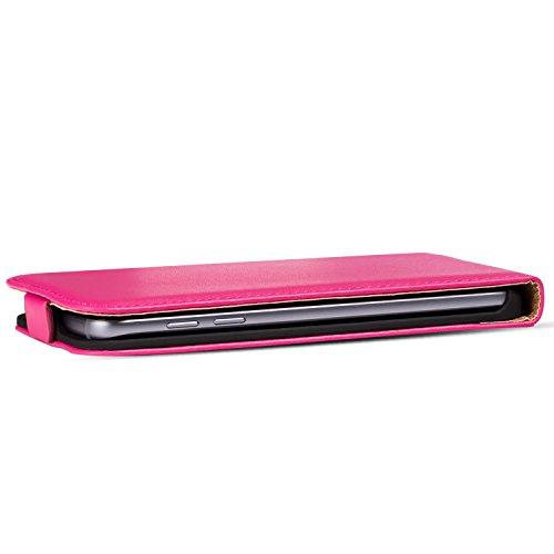 Premium Schutzhülle für - iPhone 5C - Hülle Flip Case Wallet Tasche aus PU Leder Farbe: Grün Pink