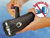 Lunartec Wasserdichte Dynamo-Taschenlampe mit 3 LEDs, 1 W von Lunartec - Lampenhans.de