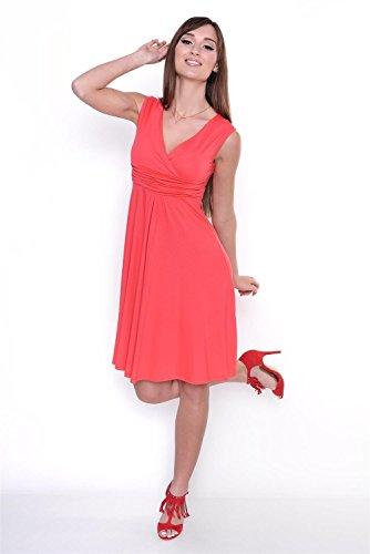 AE - Robe spécial grossesse - Sans Manche - Femme Rouge - Corail