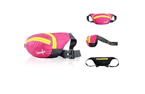 Outdoor peak NYLON Herren Damen Fahrrad tragbaren Taschen Messenger Bag Hüfttasche Gürteltasche Bauchtasche (rot) rose