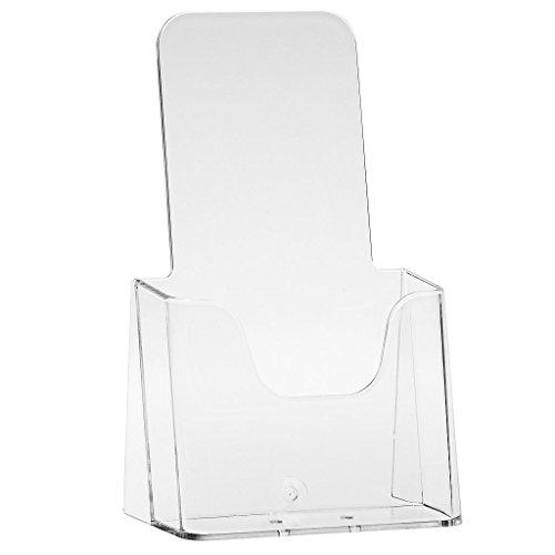 Tischaufsteller Prospekthalter Flyerbox DIN Lang - transparente Flyerständer Prospektständer