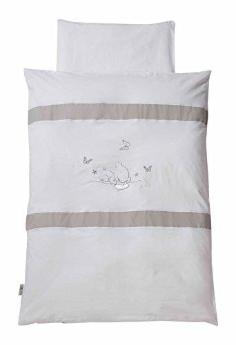 Easy Baby 815-90 Parure de lit, 80 x 80 cm, Dream Ours, Blanc
