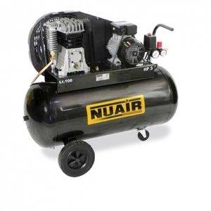 Nuair - Compresseur D'Air à Piston Réservoir De 150 Litres Moteur Monophasé De 3 Cv