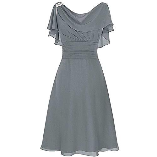DQANIU- Partykleid, Kleidung Schuhe & Accessoires - Kleid Damen Plus Size Elegante Formelle Hochzeit Brautjungfer High-Taille Party Ball...