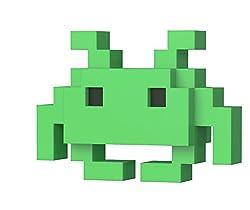 - Figurine Retro Game - Space Invaders 8-Bit Pop- Matière vinyl- Vendu sous window box- Taille 10cm