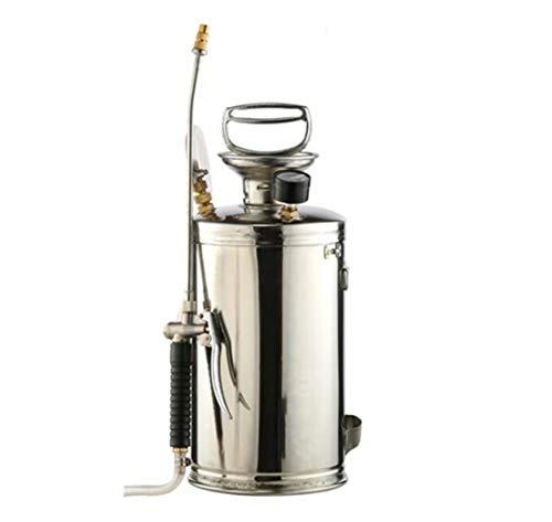 XGHW Garten Sprayer Edelstahl Bewässerungsspray Landwirtschaftliche Sprayer Garten Wasser Sprühflasche Mit Sicherheitsventil Manometer 4L / 6L / 8L / 15L (Color : Silver, Size : 15L)