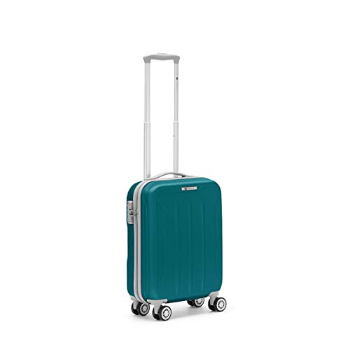 R Roncato, FLIGHT - Trolley Cabina in ABS 100%, Azzurro