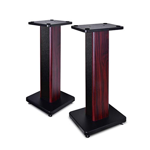 Standfüße Lautsprecherständer/Monitorständer/Regallautsprecherständer/Audioständer/Bühnenlautsprecherständer/Wohnzimmerblumenständer/EIN Paar (Color : Brown, Size : 24 * 28 * 50cm)