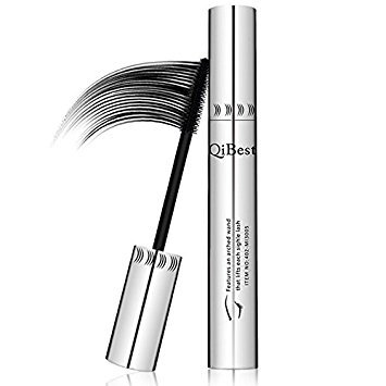 etbotu qibest Voluminous Mascara Wasserdicht Long Lash Mascara Augen Cosmetics schwarz 5ml, net wt:with box