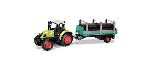 Herpa 84184016 CLAAS Arion 540 Traktor mit Holzanhänger