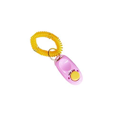 prutx Hohe Qualität Pet Dog Puppy Training Clicker mit Armband (Pink)