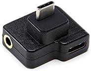 Hensych per DJI Osmo Action Microfono 3.5mm/USB-C Adattatore, Adattatore Audio Esterno 3.5 mm Mic Mount per Spina TRS