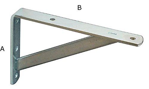 20 X Regalträger 10 cm X 35 cm, Dicke 4 mm Träger Regal Winkel Konsole Regalhalter