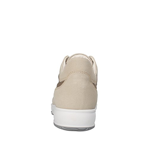 SABEN SHOES sneakers beige gris blanc crème daim textile Beige / blanc crème