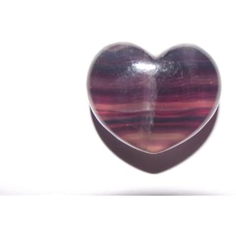 Flourite Mini con gemme a forma di cuore