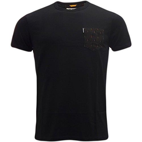 Ben Sherman -  T-shirt - Basic - Maniche corte - Uomo nero medium