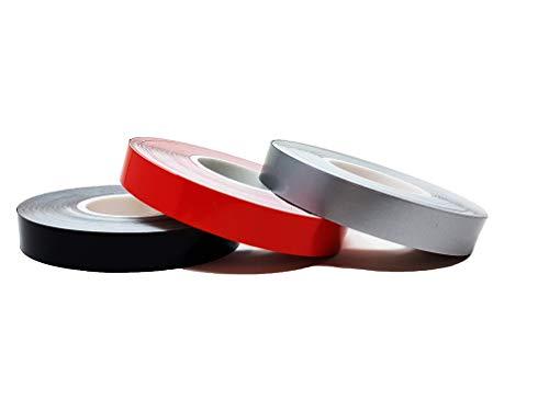 Rosso 10 Metri x 5 Mm Quattroerre 10009 Strisce Adesive Rotolo
