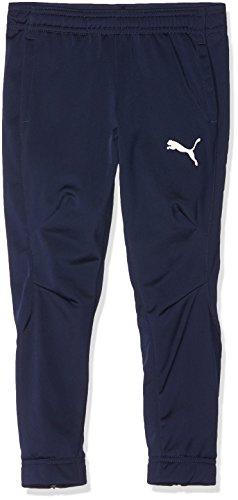 Puma 655949 06 Pantalones, Niños, (Azul Oscuro/Blanco), 140