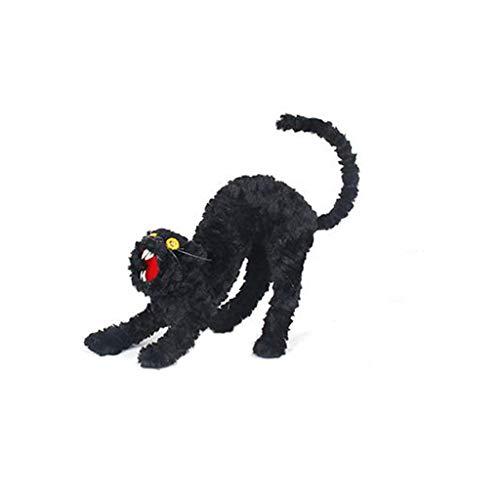 TianranRT❤Halloween Zubehör, Halloween Requisiten Layout Dekoration Simulation Rabe Schwarze Katze Party Dekoration Simulation Rabe Schwarze Katze