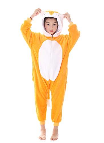 84d80a57d3 Pigiama Intero Bambina Tuta Intera Unicorno Bambini Ragazzi Unisex Cosplay  Animale Pasqua Halloween Regalo (M (Altezza: 39.4