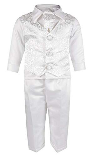 Vivaki - Abito da battesimo - Bebè maschietto Bianco bianco