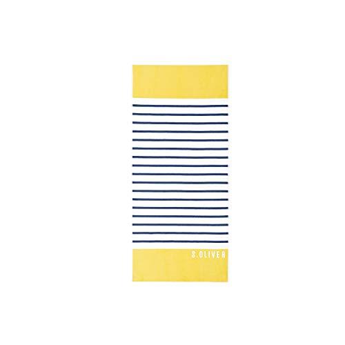 s.Oliver Strandlaken 3706 15 Gelb Strandtuch Badetuch Streifen Gestreift 80 cm x 180 cm