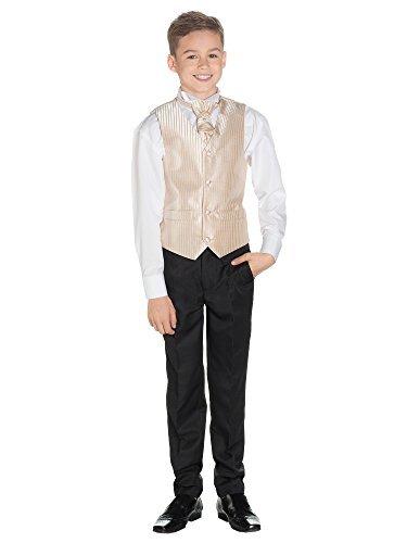 Paisley of London, Kostüm Weste Jungen, Seite Jungen Outfits, Gestreift, Hose schwarz, 3–6Monate–14Jahre Gr. für 5- bis 6-Jährige, (Gilet Kostüm Avec)